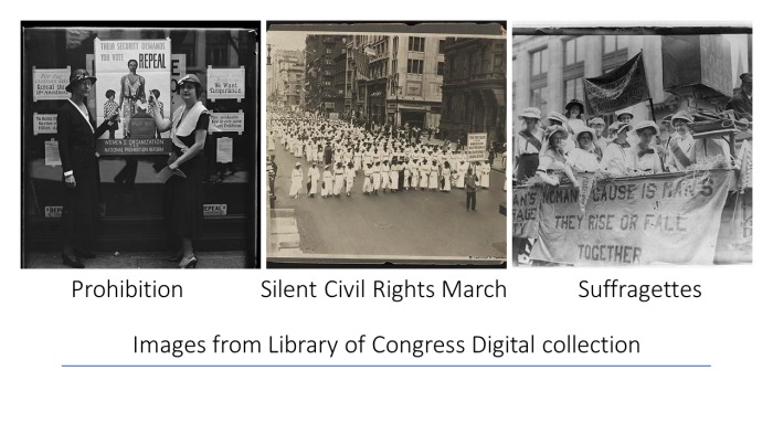Prohibition Silent Civil Rights March Suffragettes